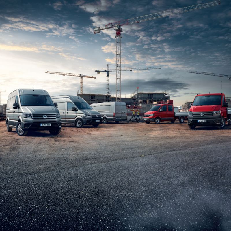 Volkswagen Véhicules Utilitaires Crafter gamme chantier rouge gris plateau châssis