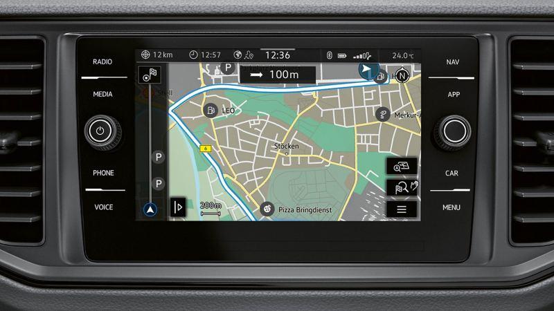 vw Volkswagen Crafter navigasjonssystem førerhus varebil kassebil budbil arbeidsbil firmabil 4x4 firehjulstrekk 4MOTION parkeringsvarmer parkvarmer