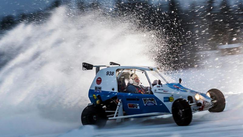 Semog Bravo Crosskart Extreme i snömoln