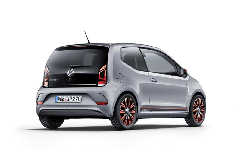 Heckansicht freigestellter VW eco up!