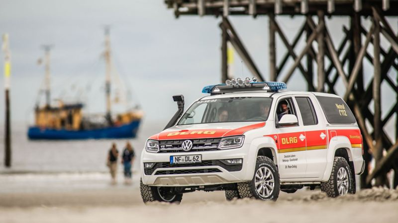 Amarok patrullerar stranden
