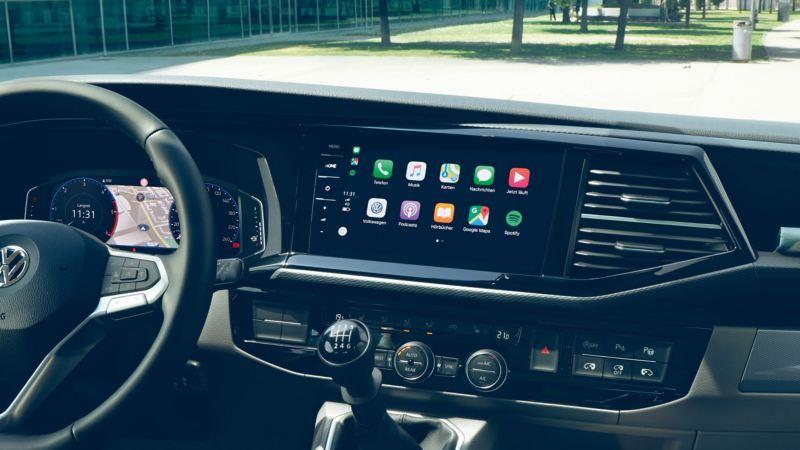vw Volkswagen varebiler arbeidsbiler firmabiler Caddy liten Transporter kassebil Crafter stor Amarok pickup Car-Net app