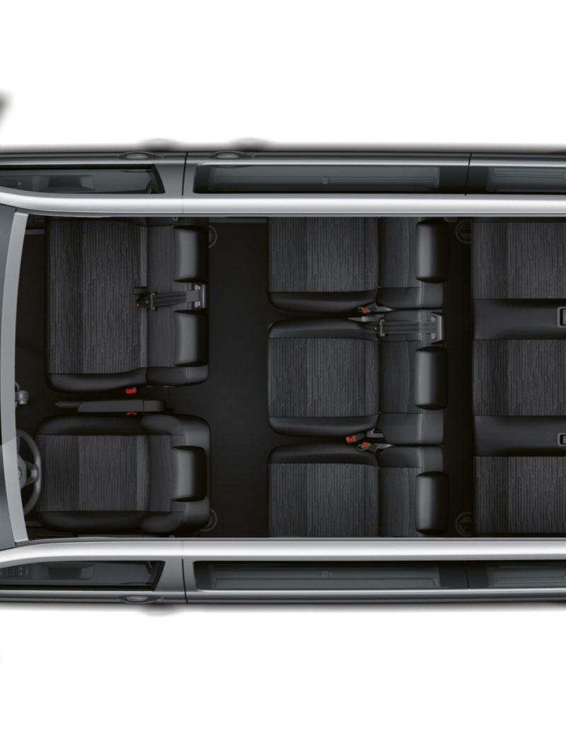 Uppemot 9 platser i VW Caravelle minibuss