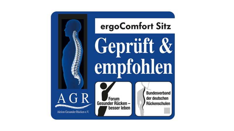Image of the quality label for ergonomic seats