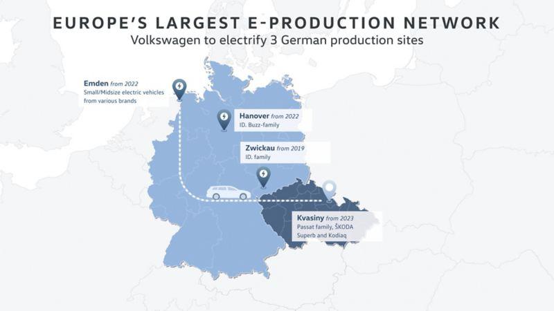Koncern Volkswagen na nowo definiuje przynależność fabryk do poszczególnych marek i skłania się ku fabrykom wielomarkowym