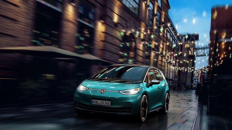 Elektryczny Volkswagen ID.3 potrafi komunikować się z kierowcą i otoczeniem za pomocą świateł