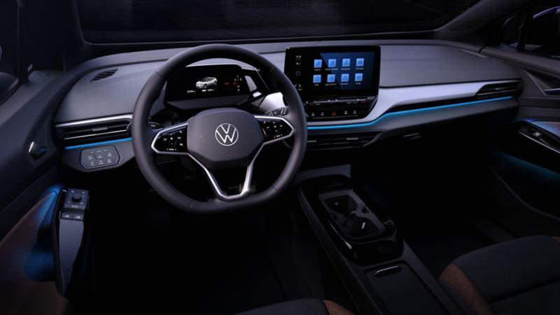Wnętrze nowego Volkswagena ID.4 na pierwszych zdjęciach