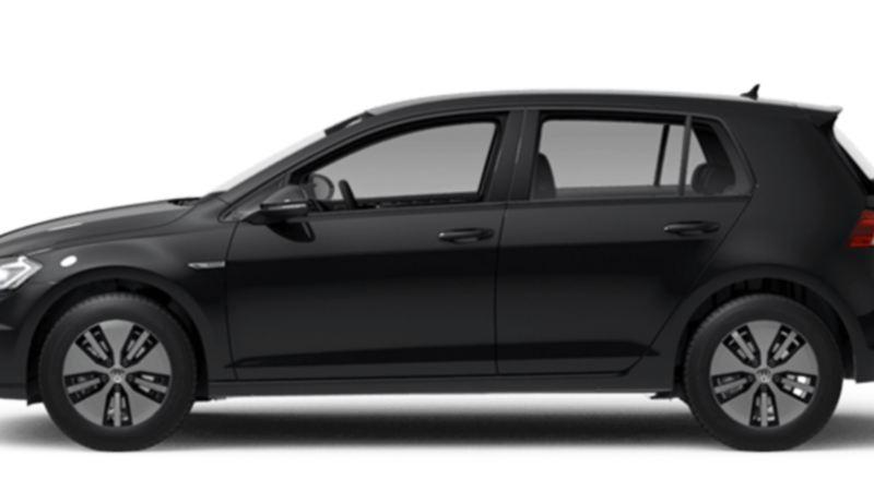 Volkswagen e-Golf kjørende på snødekte veier