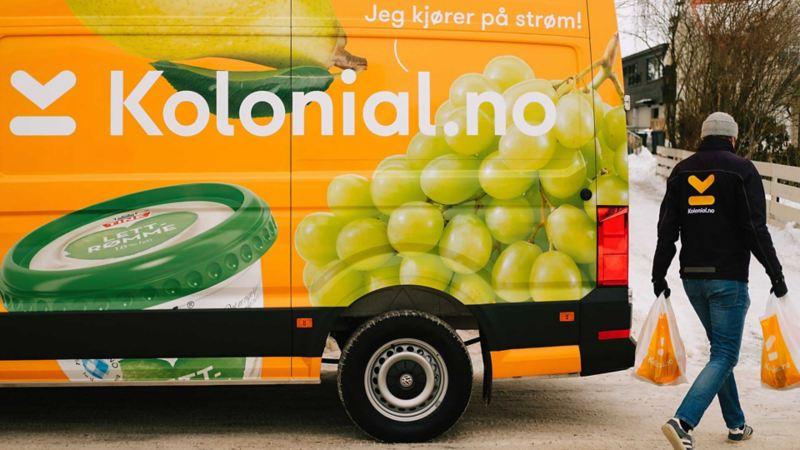 vw Volkswagen e-Crafter el varebil elektrisk varebil elbil elvarebil Enova støtte klimarabatt kolonial.no kolonial kjøpe mat på nett nullutslippsfondet