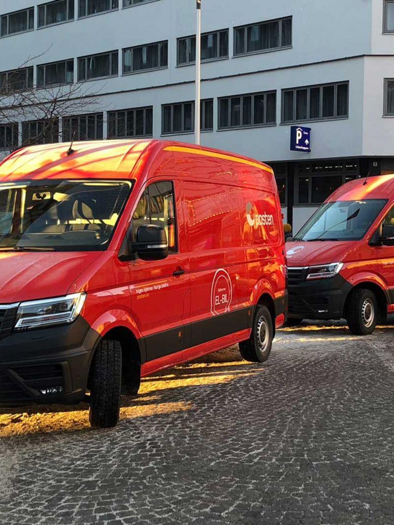 vw Volkswagen e-Crafter el varebil elektrisk varebil elbil elvarebil posten postbil postbud Oslo