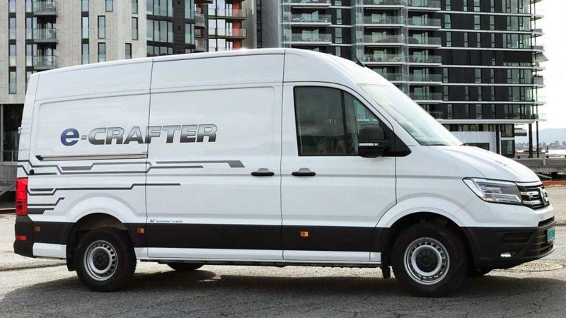Enova støtte elektrisk varebil | e Crafter gir kr 50.000, i