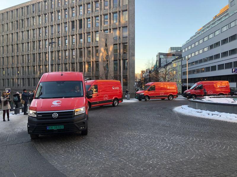 vw Volkswagen e-Crafter levert til posten
