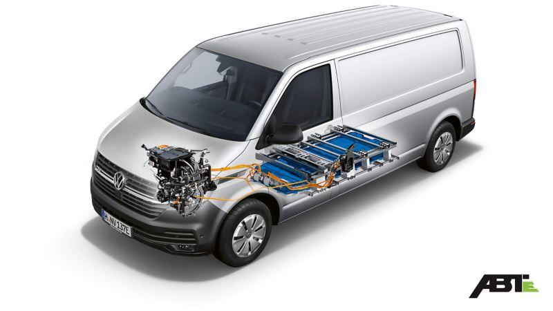 Plan technique d'un ABT e-Transporter.