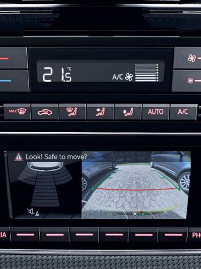 In built app-connect, shown inside a Volkswagen e-up!.
