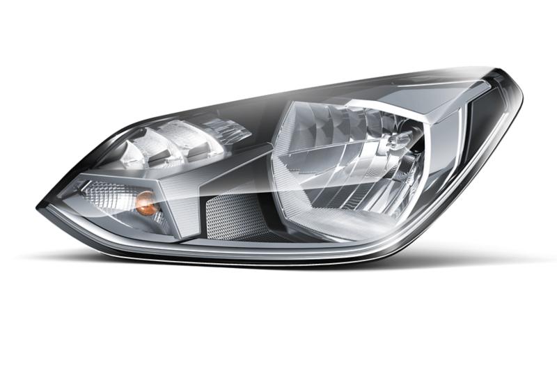 Freigestellter Scheinwerfer des VW eco up!