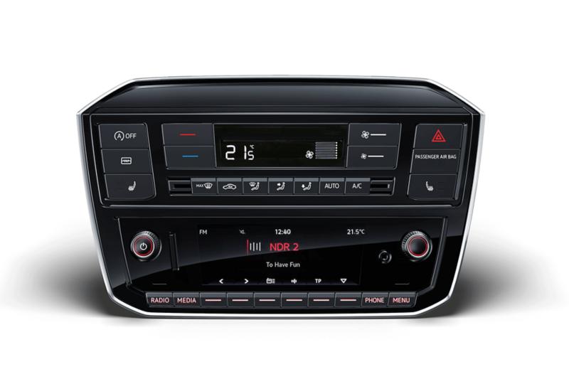 "Das Infotainment-System des VW up! inklusive ""Climatronic"""