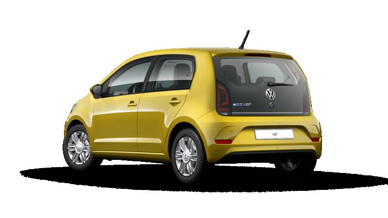 Vista posteriore di VW eco up! scontornata