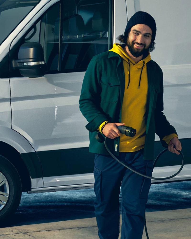 Volkswagen e-Crafter på laddning