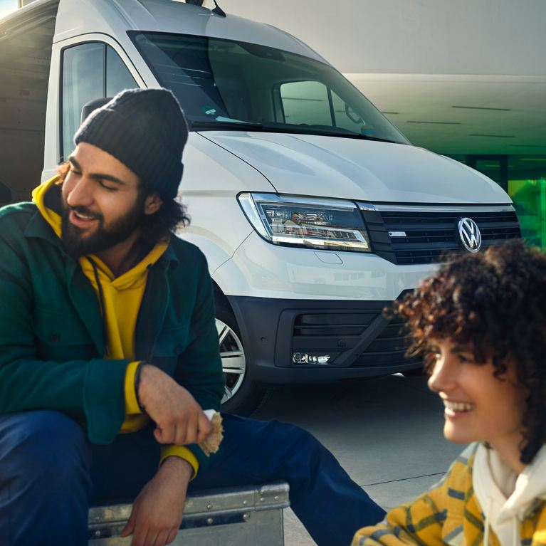 vw Volkswagen e-Crafter el varebil elektrisk budbil bud budmann bysenter varelevering venner
