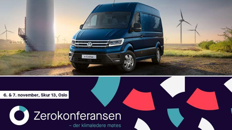 Møt vår elektriske varebilmodell vw Volkswagen e-Crafter på årets Zerokonferansen 2019, Skur 13 på Tjuvholmen i Oslo