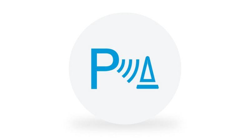 Ein Piktogramm symbolisiert die Funktion des Flankenschutzes.