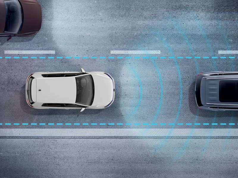 Adaptive cruise control in action on the e-golf