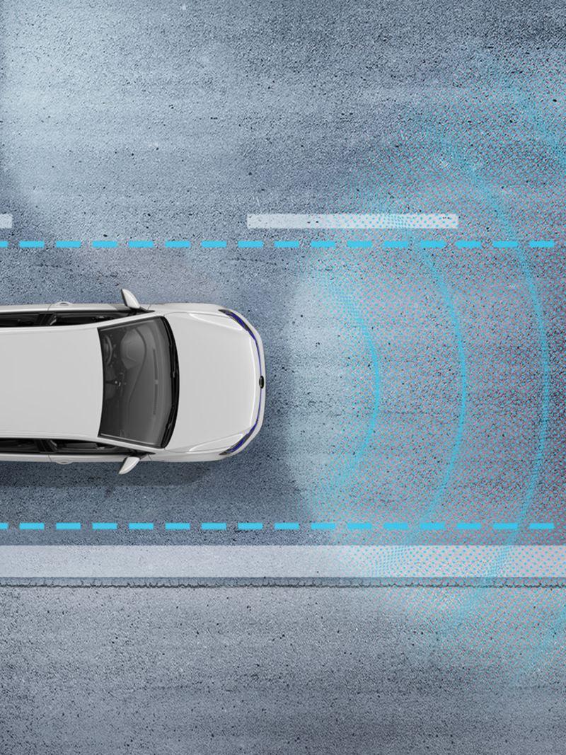 Régulateur de vitesse adaptatif en action sur la e-Golf