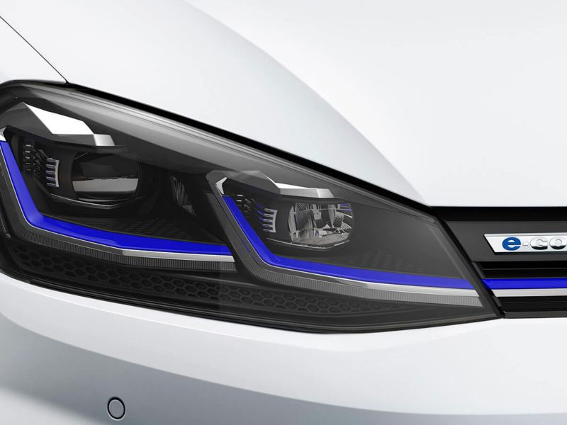 LED headlights on the e-golf
