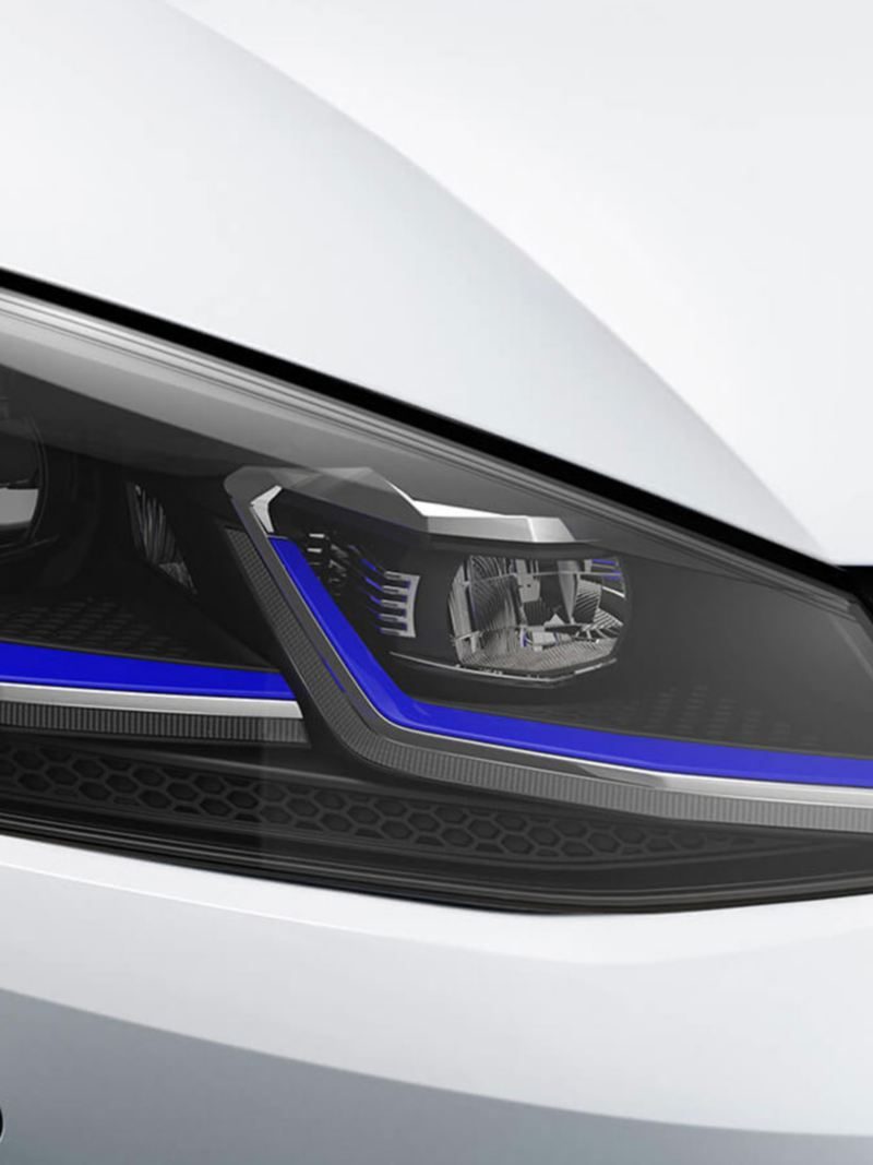 LED headlights on the e-golf