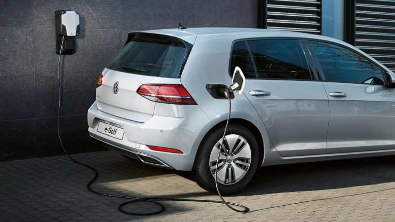 A Volkswagen e-Golf charging