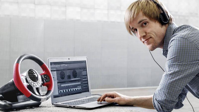 Volkswagen sound applicator Michael Wehrmann at work