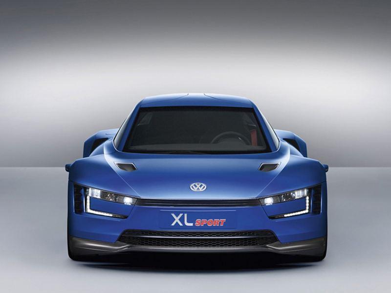 A blue Volkswagen XL Sport.