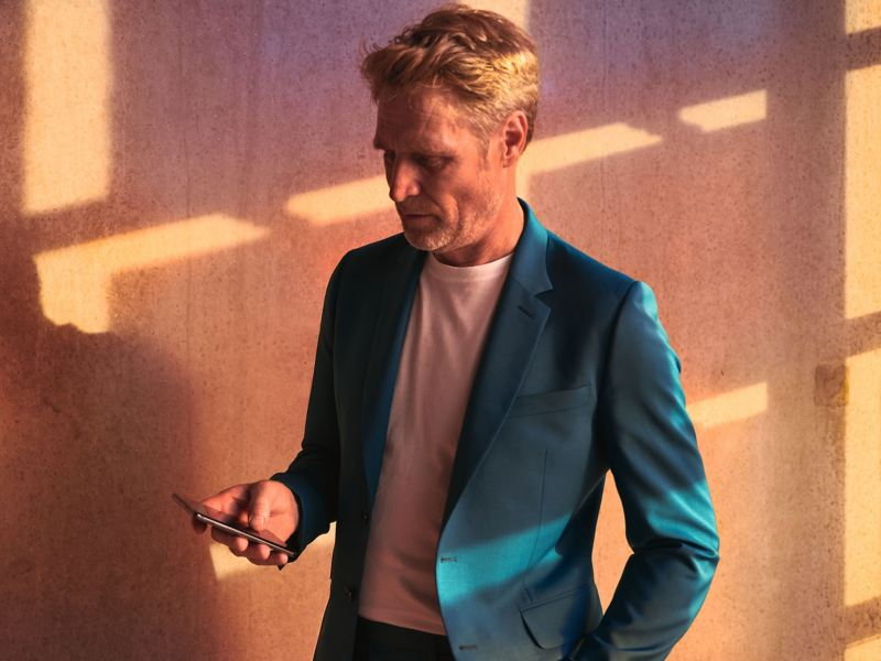 A man holding a phone