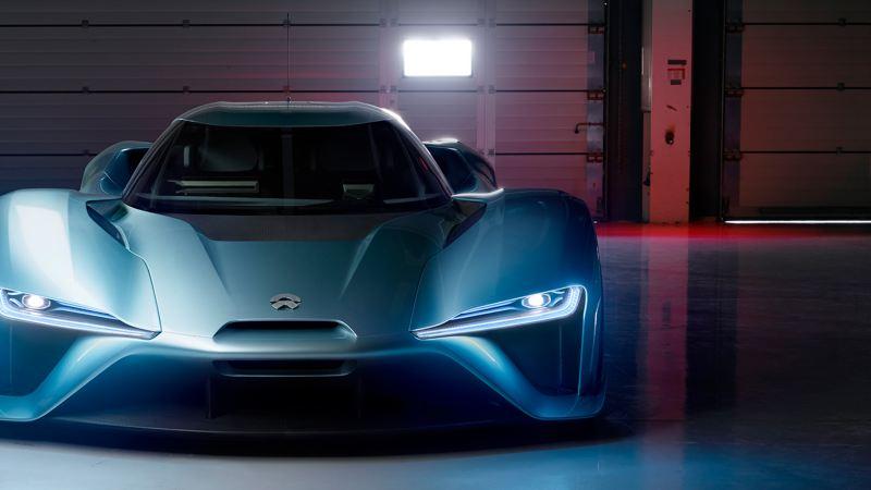 "The electric sports car ""NIO EP9"""