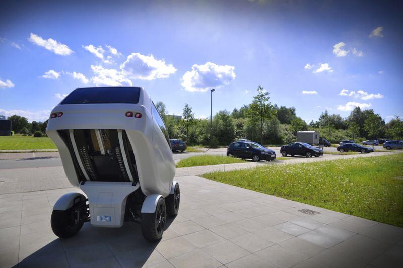 """The """"DFKI"""" folding electric vehicle"""