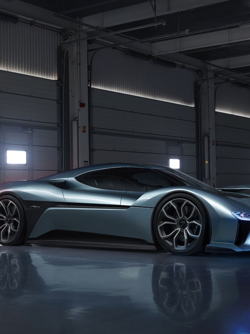 "The ""NIO EP9"" electric sports vehicle"