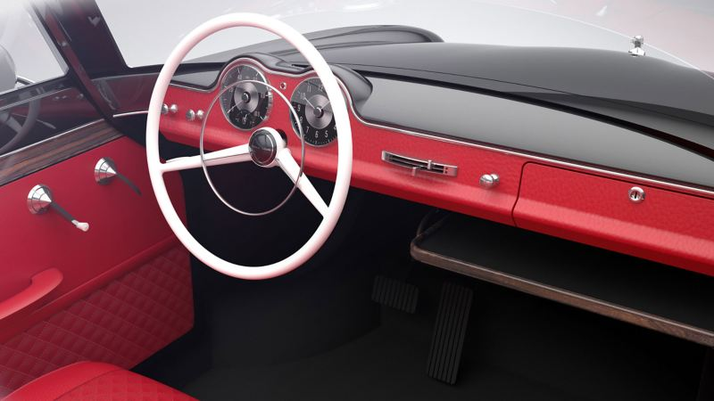 Retro dash panel in the electric vehicle