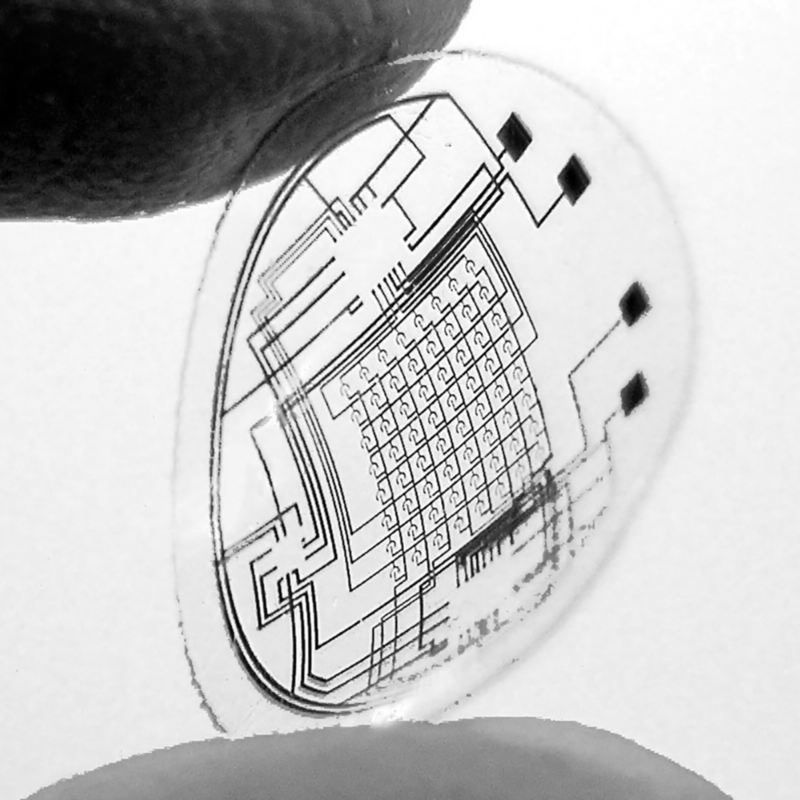 Augmented reality with contact lenses