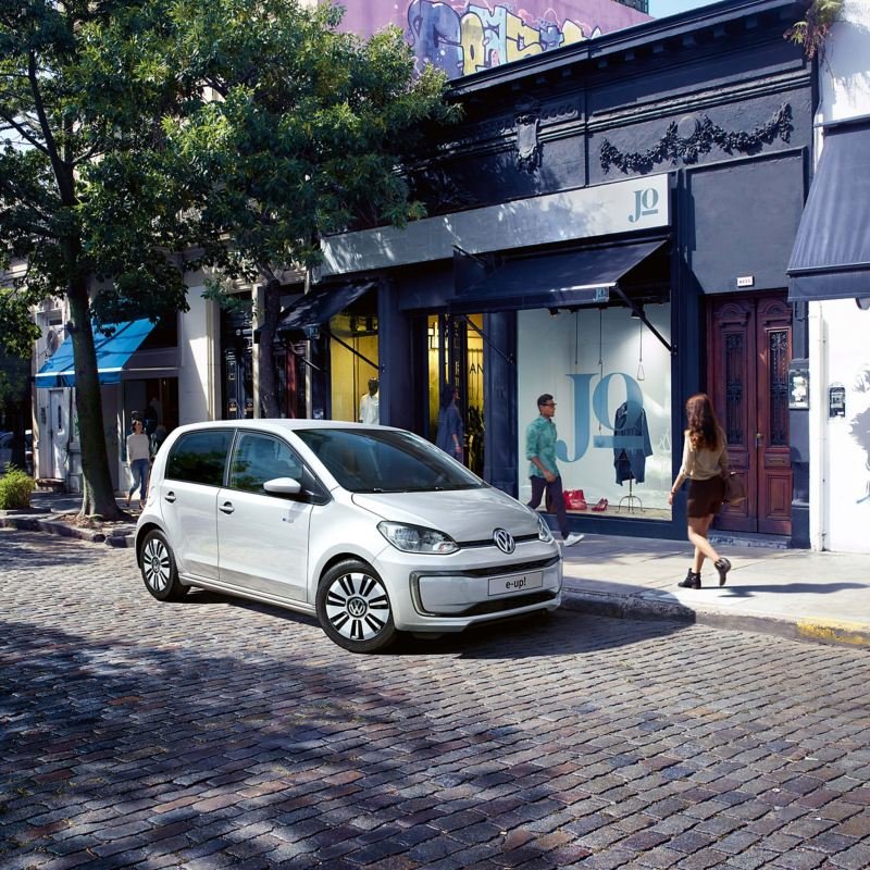 Volkswagen e-up! parked in street