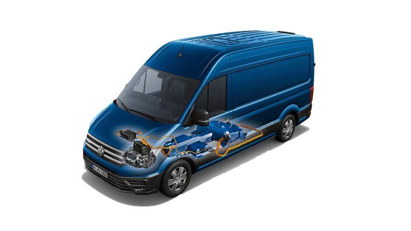 VW electric van cutaway