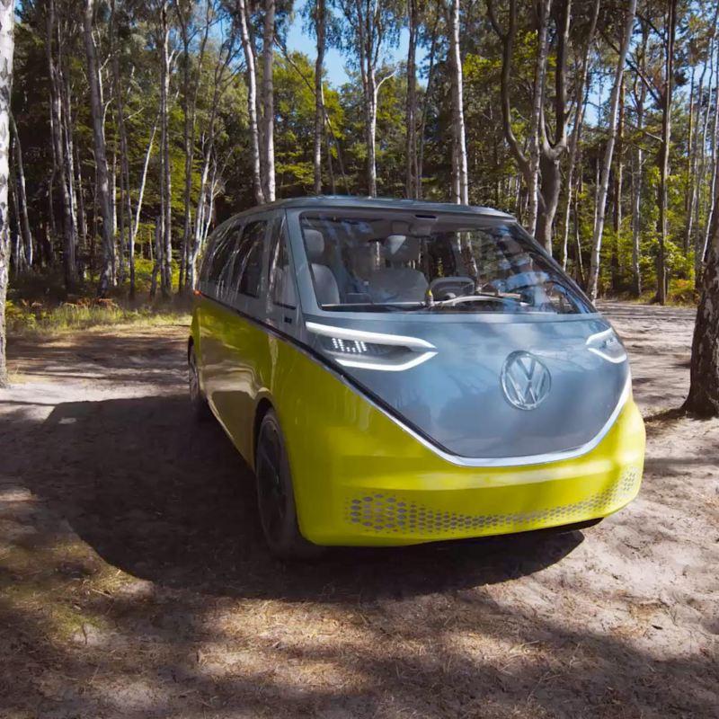 ID. Buzz Cargo van - side shot in the woods