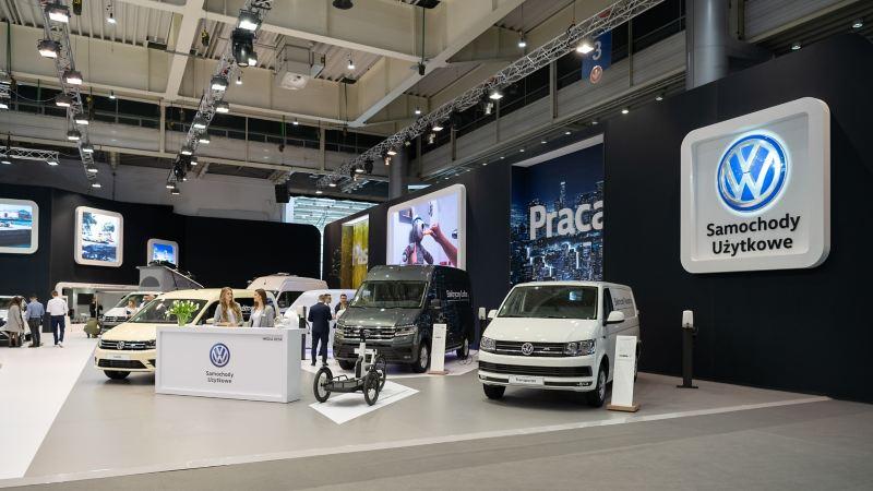 Stoisko Volkswagen Samochody Użytkowe podczas targów