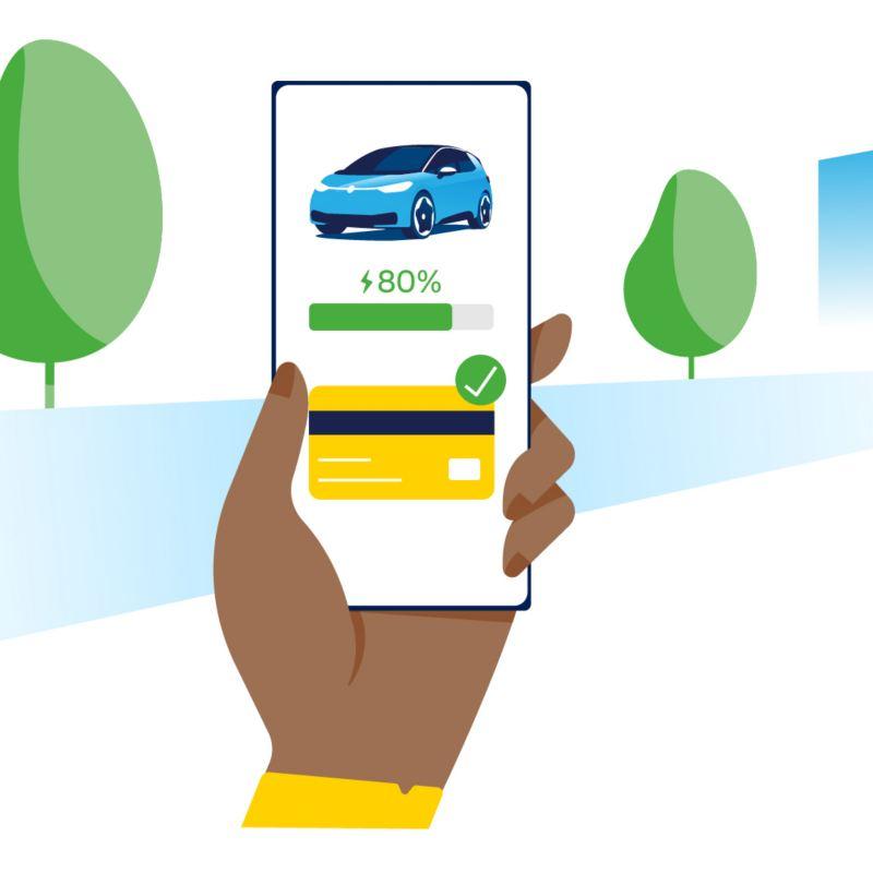 Płatność przy użyciu smartfona i We Charge