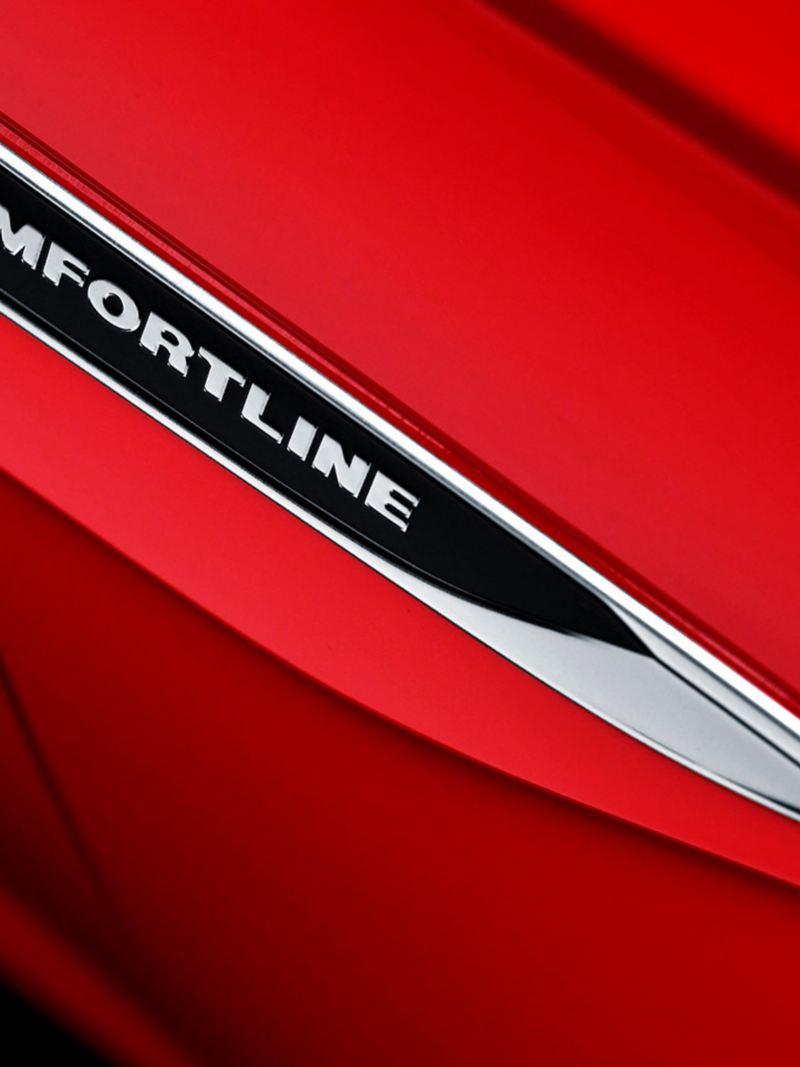 Emblema disponible en la versión Tiptronic de Volkswagen Virtus