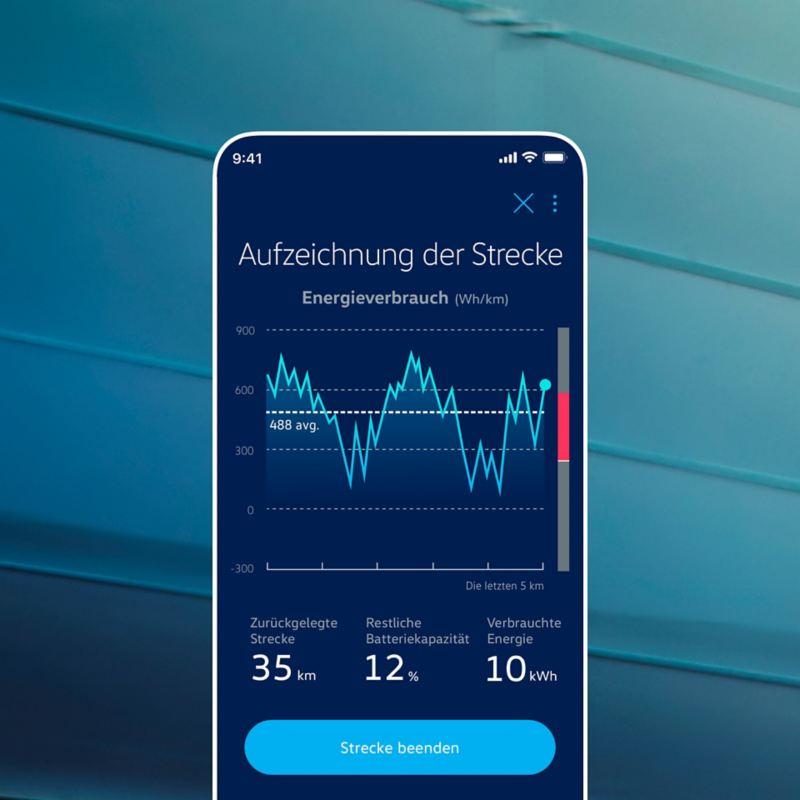 Die Ev Check App zeigt das Mobilitätsprofil