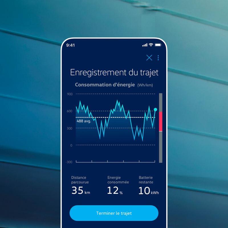 L'appli EV Check affiche le profil de mobilité