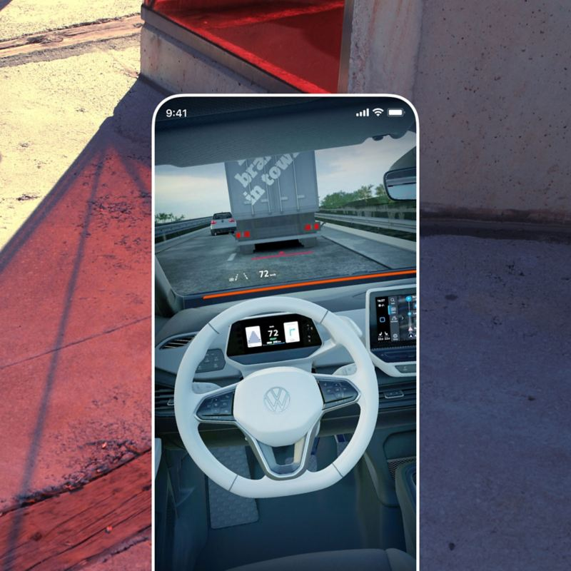 Die EV Check App im  Augmented Reality Modus