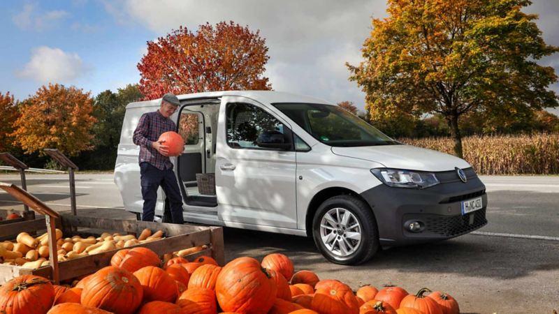 Den nye Caddy Cargo liten varebil stor 7-seter personbil