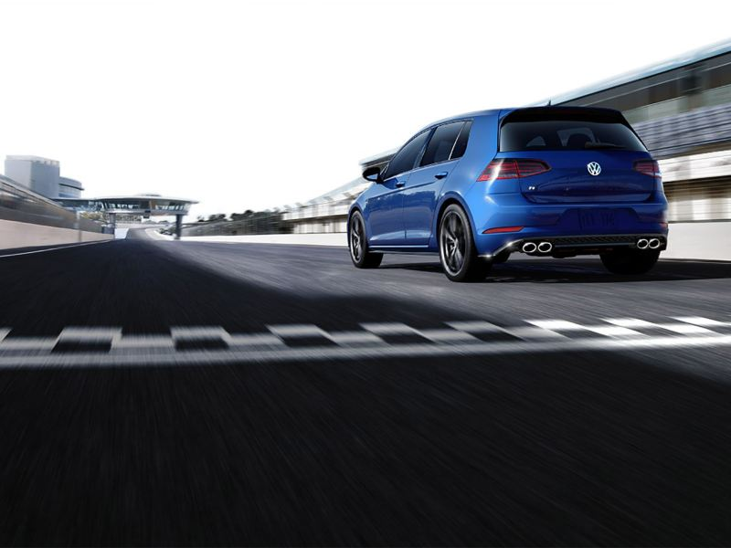 Golf R on a wet road