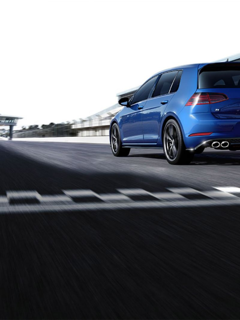 Golf R on the track